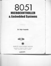 The 8051 mcu&Embedded systems