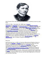 Rizal jose life and by pdf works of zaide