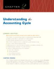 Chapter 2 Understanding the Accounting Cycle