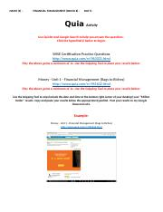 Quia Activity - WISE Certification Practice Examination and Money Unit 1.docx