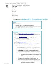 Passengers and Airlines assignment instruction