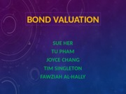 Bond Valuation- Group 6