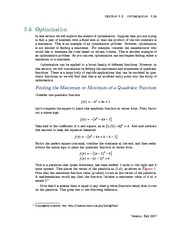 Section 6: Optimization