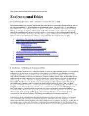 Environmental Ethics  Stanford Encyclopedia of Phylosophy.pdf