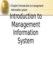 MIS 206 : principle of management information systems -