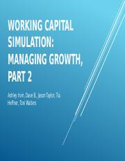 working capital simulation managing growth essay
