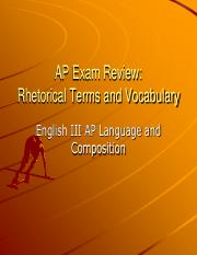 AP Exam Review Vocabulary
