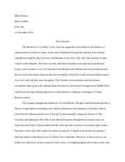 raisin in the sun essay questions michael winters mrs mary 9 pages crusades research final essay