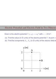 91. Electric Potential and Electric Field in Two Dimensions