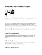 Task 2.3 Networking Strategies.docx