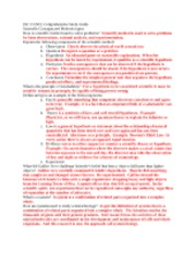 COMPREHENSIVE STUDY GUIDE ALL MODULES
