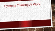 Systems Thinking At Work - jevic