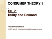 Ch 7-8 - CONSUMER THEORY