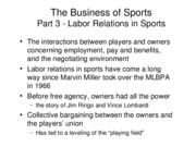 Section 3 - Labor Relations
