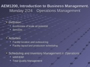 2-24 and 2-26 Operations Management