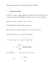 Thermodynamics and Kinetics- Study Guide- Heterogeneous Equilibria