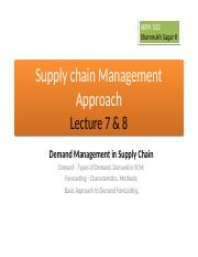 ABM 532, Supply chain Management Approach, Lecture 7 & 8