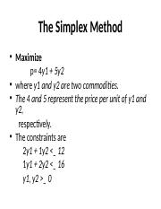 GIDO The Simplex Method.ppt