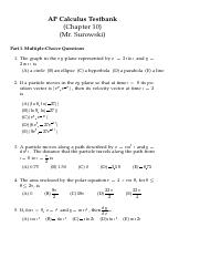 chapter10_testbank pdf - AP Calculus Testbank(Chapter 10(Mr