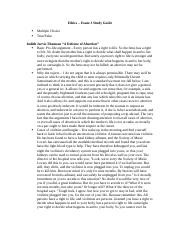 Ethics study guide 3