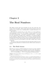 The Real Numbers- Chapter 2