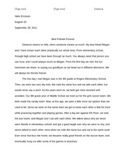 BFF Paper Essay 1