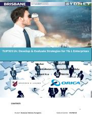 TLIP5011A Develop & Evaluate Strategies for T & L Enterprises.doc