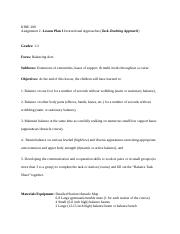 KINE200-Assignment 2- Student_ Example_(lesson plan1)1a.doc