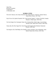 works cited for movies