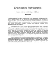Engineering Refrigerants-Abstract