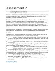 Assessment 2 Developing a Health Care Perspective.docx