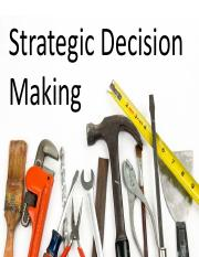 5 Strategic Decision Making(2)