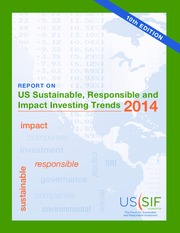 Report on US Sustainable, Responsible and Impact Investing Trends 2014