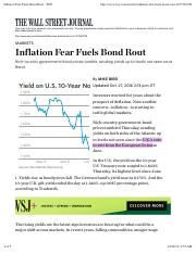 Inflation Fear Fuels Bond Rout - WSJ
