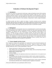 10. Evaluation of Software Development Project