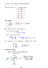 4.1 Part 2 and 4.2 Arc Length and Coterminal Angles