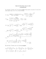 Final Exam 2014 Solutions