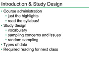 Introduction & Study Design