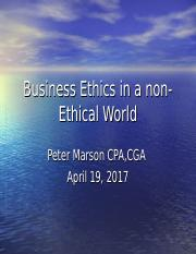 ETHC+3P82+Business+Ethics+in+a+non-Ethical+World.ppt