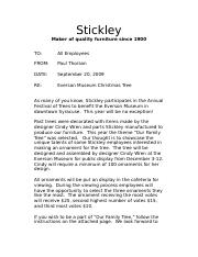 Stickley letter and instructions (1).doc