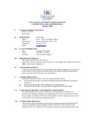 PET 4330C 001 Kinesiology_Syllabus_Summer 2014 T-Th Pyka