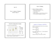 Unit 11 - Analysis of Variance - 4 per page