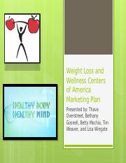 Weight loss marketing plan