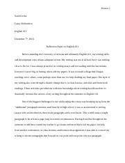 reflection paper english 101