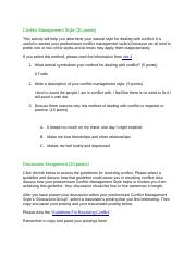 Conflict Management Style 3.6.docx