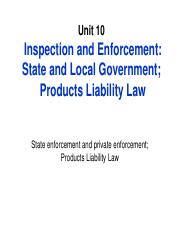 Unit 10_State Inspection_ Product Liability Law.pdf