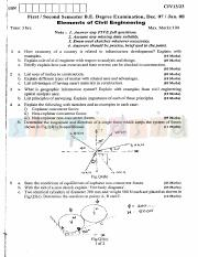 (www.entrance-exam.net)-VTU, Bangalore 1st Sem Physics Cycle- Elements of Civil Engg and Engg Mechan