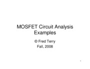 15-MOSFET Circuit Analysis Examples