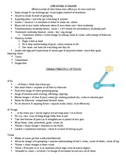 Class 6 notes - Creating Vision