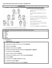 Vistas Spanish Course  LECCIÓN 3 Estructura ANSWER KEY (1) Penn State - Copy